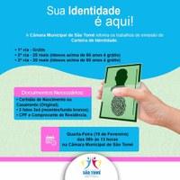 Câmara Municipal Inicia Processo de Emissão de Identidade